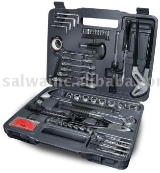 Portable 141-Piece Tool Set Featuring Screwdrivers, Wrenches, Pliers, And More