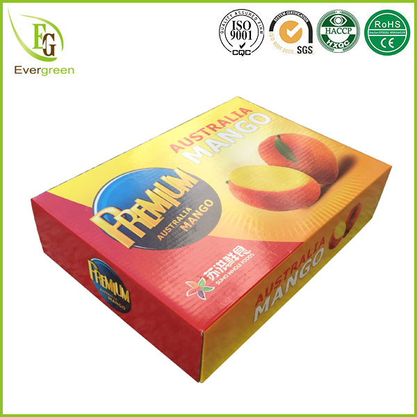 free sample color printing mango packing boxes with divided lid