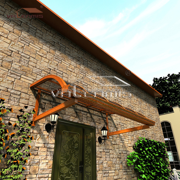 Top quality customized aluminum door awnings /balcony awnings canopies