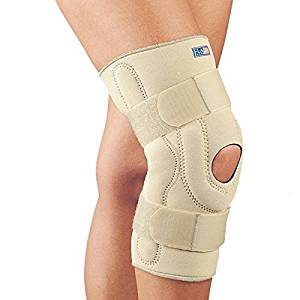 c3c4e36495 Fla 37-107MDBEG Neoprene Stabilizing Knee Brace With Composite Hinges, Beige,  Medium