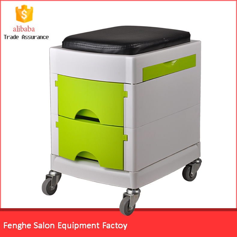 Beauty roolling pedicure trolley/manicure salon trolley chair