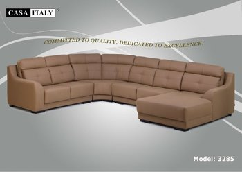Casa Italy Leather Sofa F 3285 Corner Living Room Set Furniture