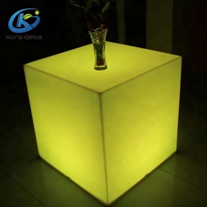 polyethylene led cube table/chair/desk for restaurant led event furniture