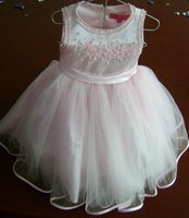 Light Pink and Beaded Flower Girl Dress 2012