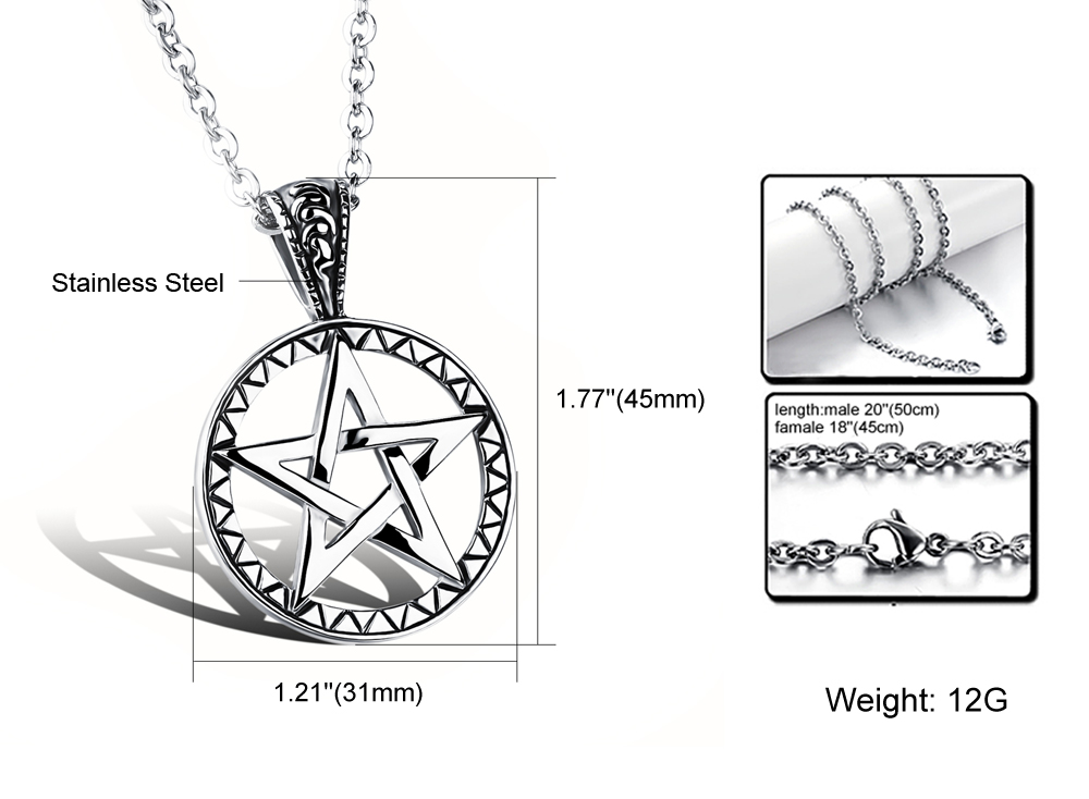 China Suppliers Men Jewelry Stainless Steel Star Shape Pendant Geometric