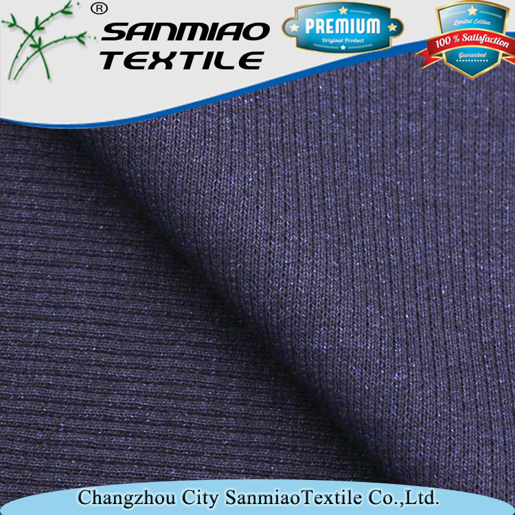 Changzhou textile supplier cotton weft knitted fabric for jeans