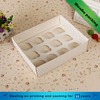 Rectangle cake bakery packaging paper card box with clear window