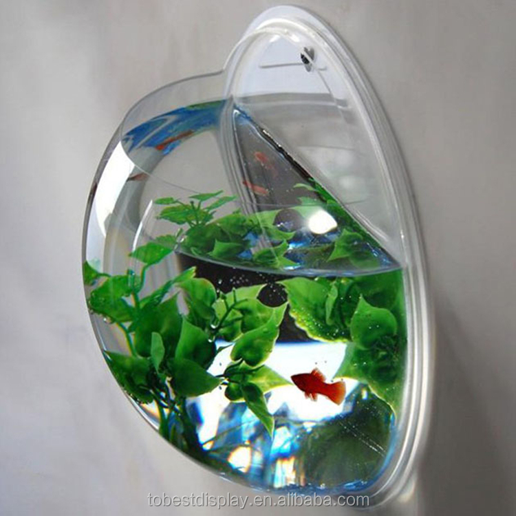 Factory Wholesale Acrylic Plastic Sphere Aquarium Wall Hanging ...