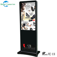 unique design floor stand lcd advertising display shoes polishing machine