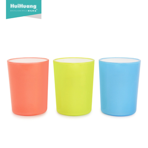 factory wholesale 350ml custom print drinking water double color PS baby drinking cup sport drinking cup tumbler cups