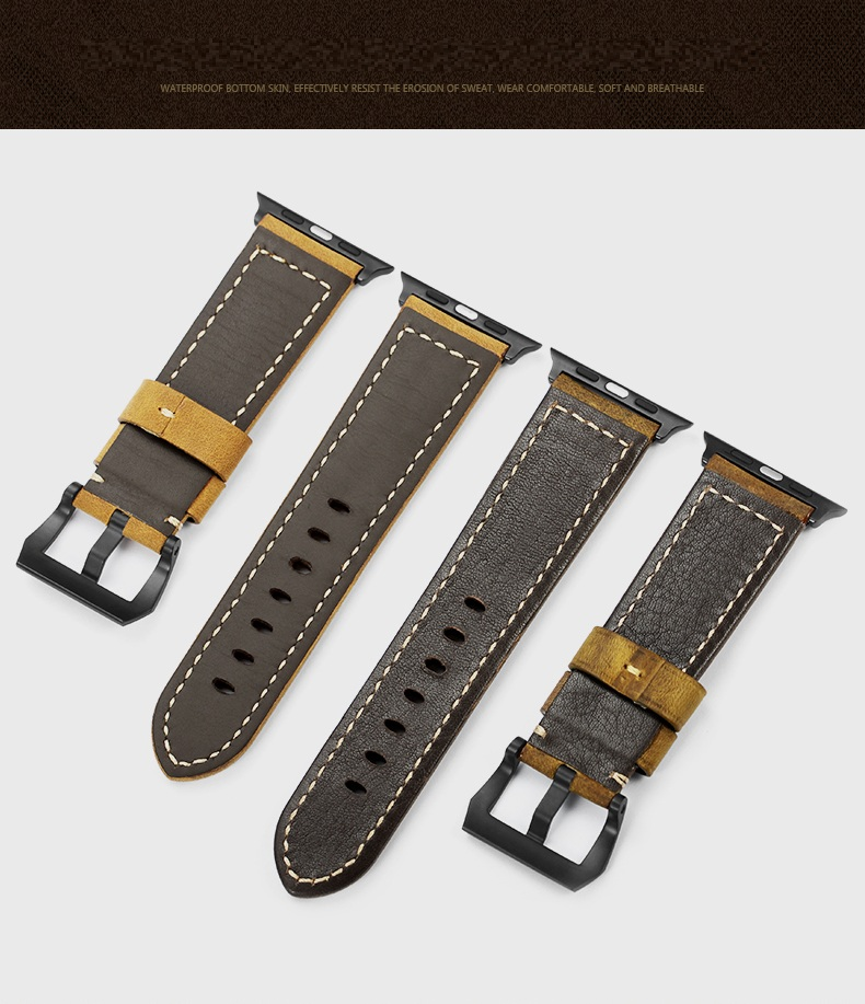 f41043a94 supply PVD hardware thick leather nato watch straps for apple watch straps  manufacturer