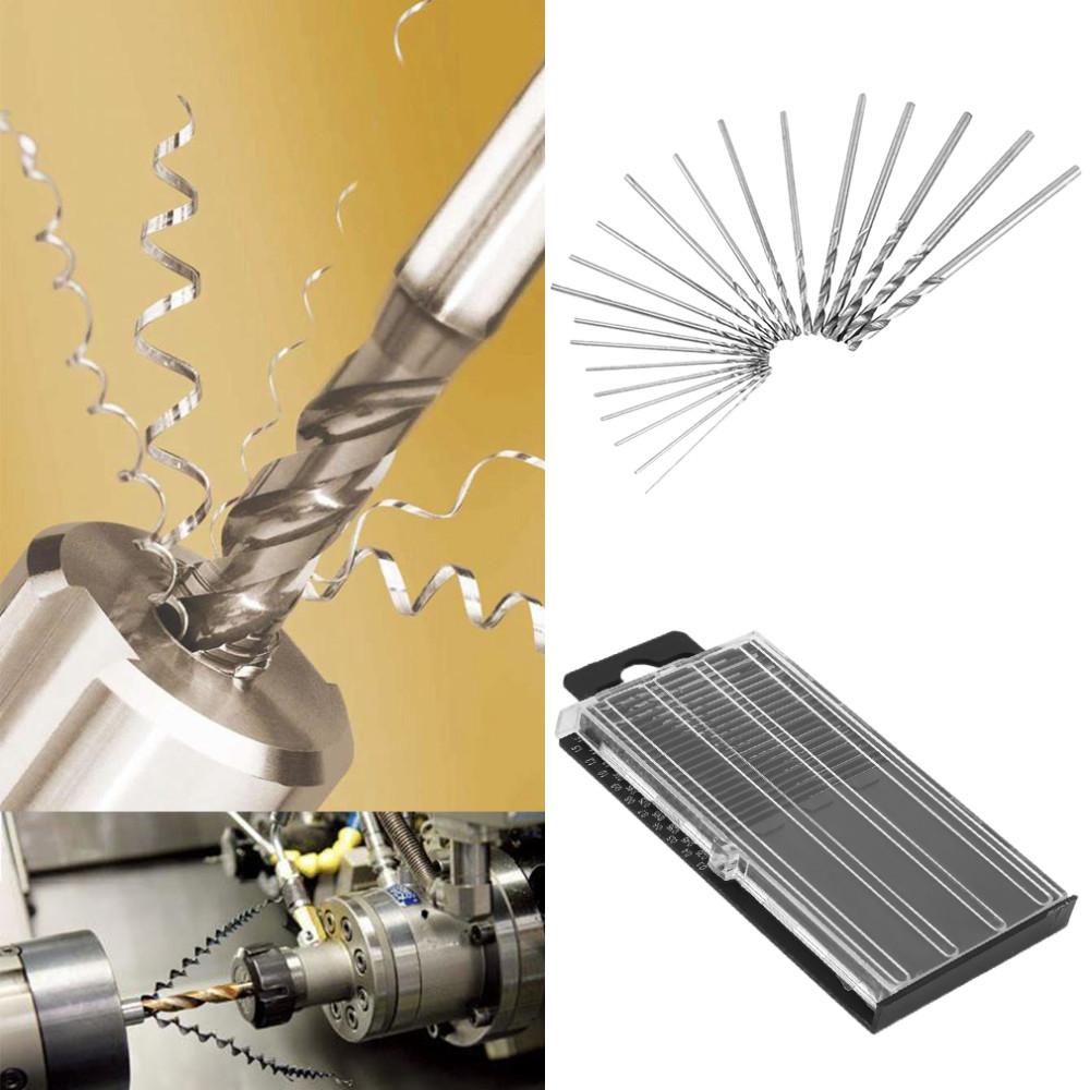 20Pcs 0.3mm-1.6mm Mini High Speed Steel Hss Micro Twist Drill Bit Set Tools