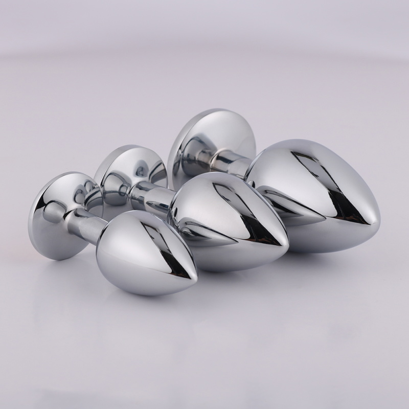 8768b6c7529 Wholesale Stainless Steel Metal Anal Butt Plug Aluminium Alloy Material  Small Size with Horse Tail Optional