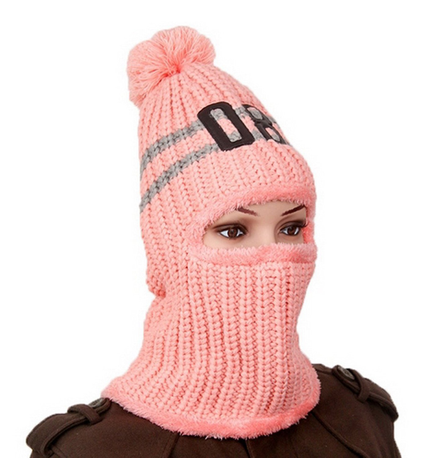 fcd2059263a Get Quotations · Windproof Knitted Ski Mask Balaclava Trapper Trooper Hat  Motorcycle Neck Warmer