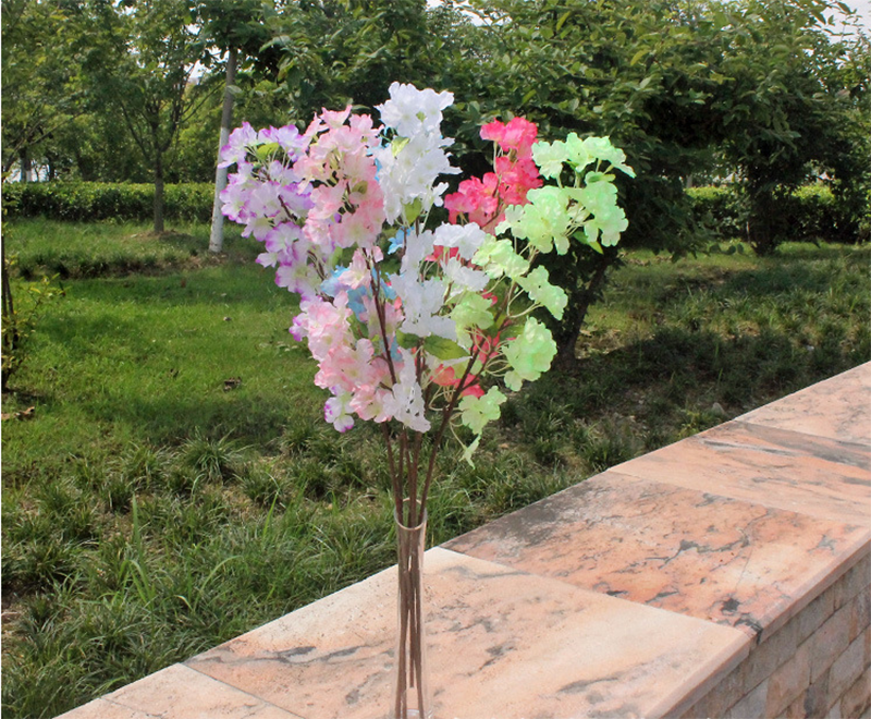 Import china silk flowers long cheap artificial pear flower flowering apricot