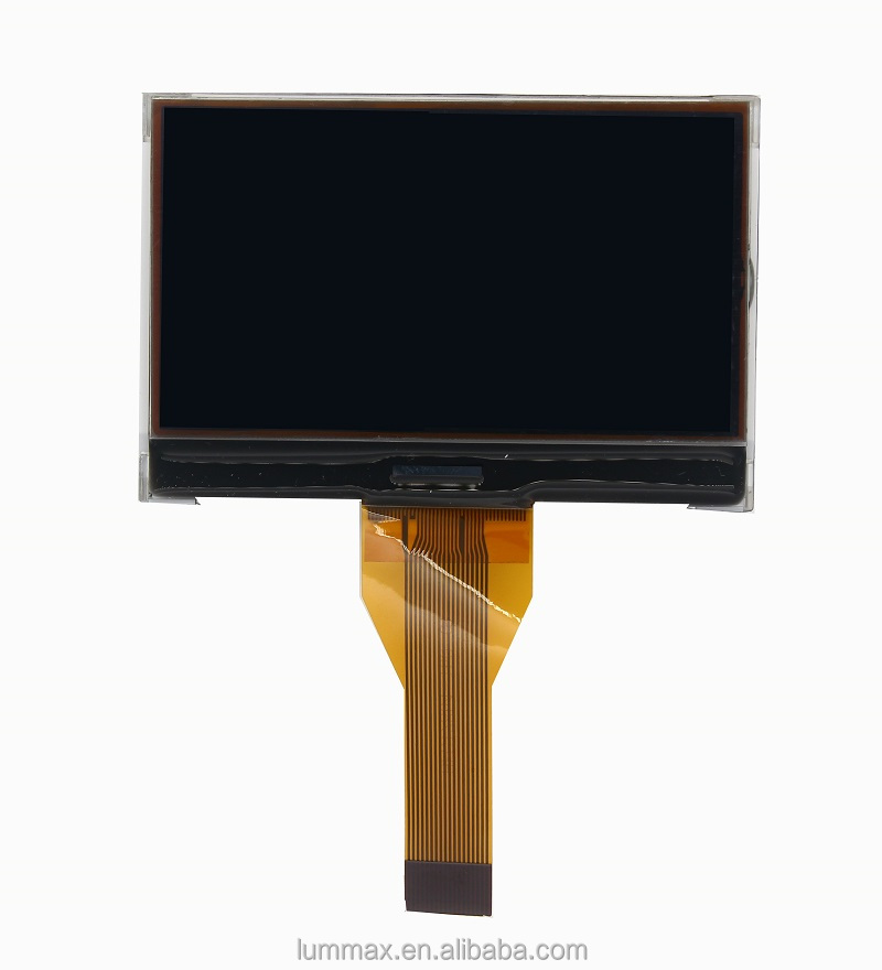 Black color 128x64 LCD with white Dots