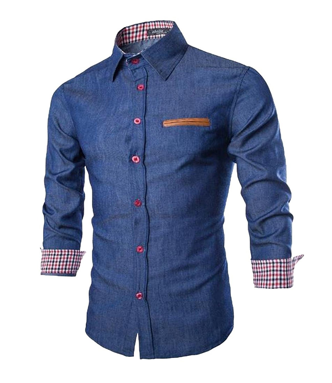Joe Wenko Mens Button Down Junior Summer Short Sleeve Casual Shirts