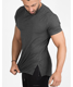 Wholesale stronger mens slim fit black camo running t-shirt custom compression muscle t shirt