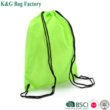 2017 factory custom promotional waterproof cheap polyester drawstring backpack for sports with pockets
