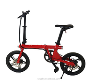 Folding e bike electric mini bicycle light weight 36v electric bikes with saddle-hidden lithium battery e bicycle