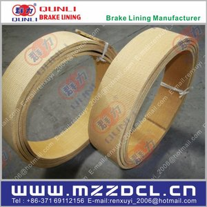Non asbestos woven brake lining with resin, brake friction material