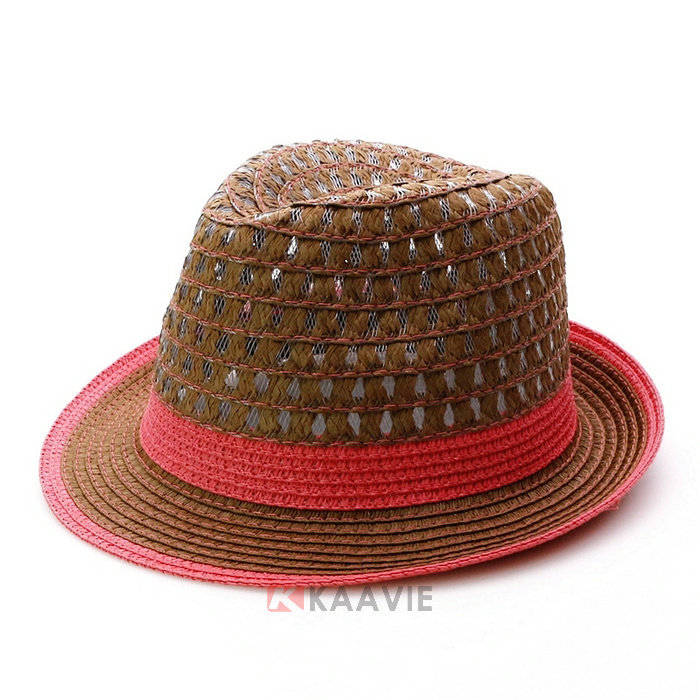 hollow-out europe jazz ladies mens fedora hat straw