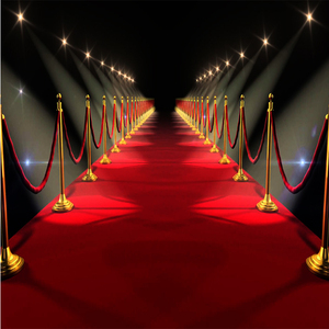 One-time Used Red Carpet Decorative Commercial Needle Punched Carpet Indoor Outdoor