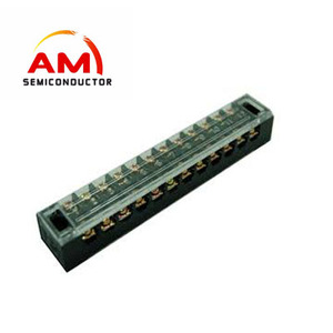 TB1512 Terminal Block Block 15A Bakelite Flame Retardant Power Cord Connector 12P Fixed Plate Column L