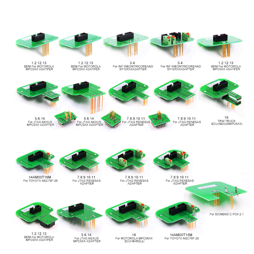 22pcs BDM Adapters For KTAG KESS K TM Dimsport Fgtech BDM Probe With Adapters Full Set LED BDM Frame ECU With high quality
