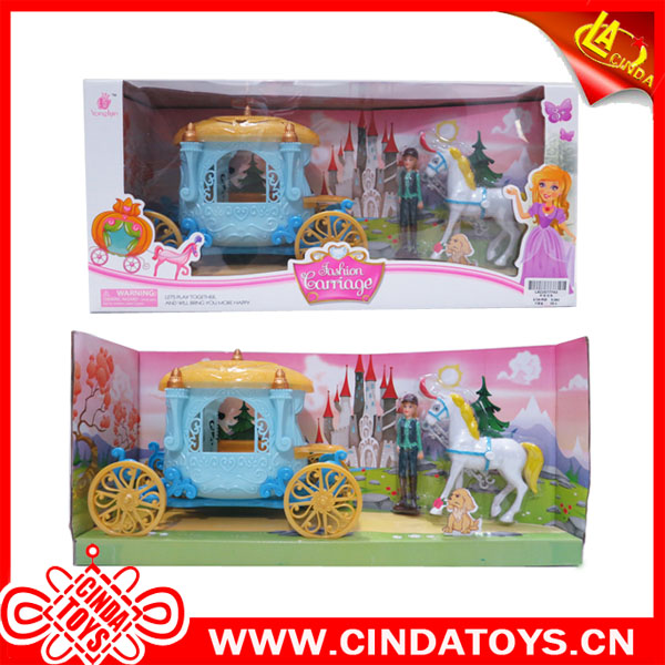 pumpkin carriage royal doll horse Princess Horse carriage toys for kids game