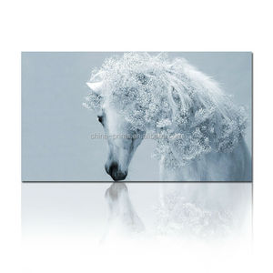 Horse Fine Art Painting/Digital Printing Canvas Roll/Animal Canvas Art Wholesale