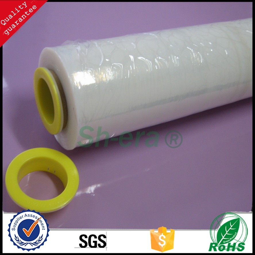 2016 Professional manufacturer hand wrap stretch PE film for scattered things fixing with excellent ability of binding