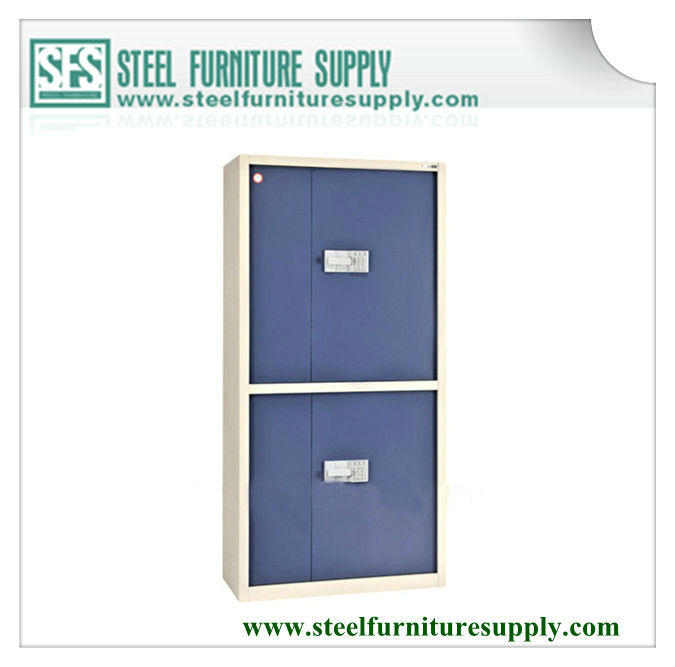 steel two tier cupboard with combination lock/lockable document cabinet