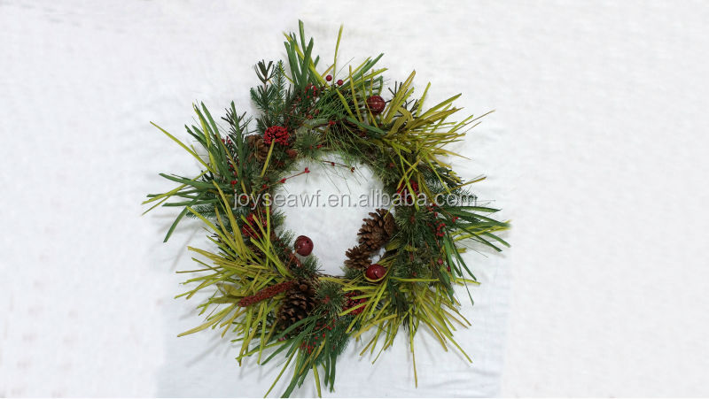 New artificial plants handmade wreath pine tree