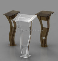 Floor Standing Acrylic Pulpit Church Podium Acrylic Lectern