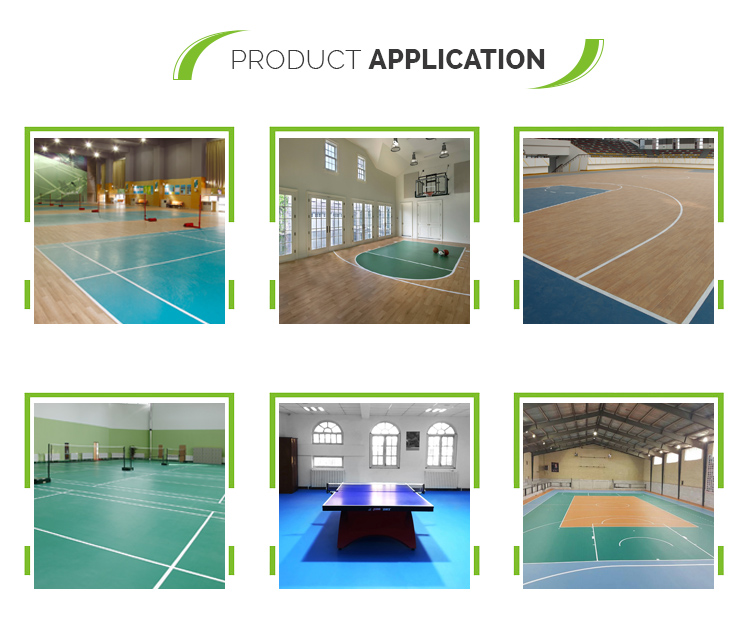 Multi-purpose basketball courts sports pvc flooring roll