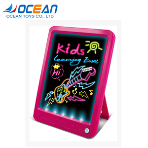 New product leaming easel toy light magical kids drawing board for wholesale