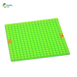 Home 39*39*3cm Silicone Double-sided Folding Seat Cushion Bus Driver Outdoor Floor Mat