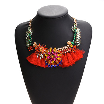 Wholesale Crystal Necklaces Women Alloy Statement Necklaces  N2118
