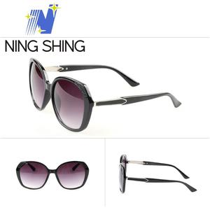 Italy famous brand design diamond cat eye women sunglasses