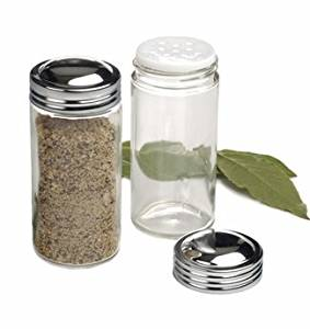 RSVP Individual Clear Glass Spice Jars - Set of 12 Home Supply Maintenance Store