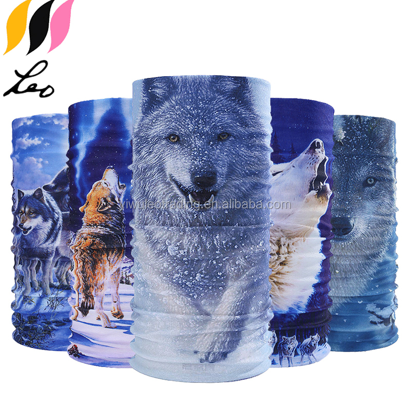 Multifunctional Headwear Wolf Headband Fashion Headscarf