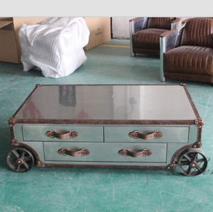 Movable designer cheap eagle aviator android luxury modern coffee table metal