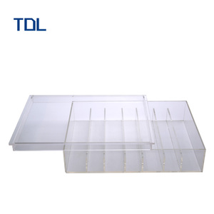 Customized design plastic acrylic retail cosmetic pos display box