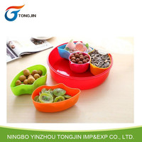 Color Mosaic Plastic Fruit Chip And Dip Tray