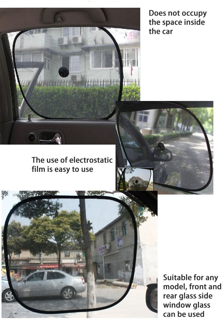 ZY-C-012 customized car driver sunshade sun shade wire with suction cups
