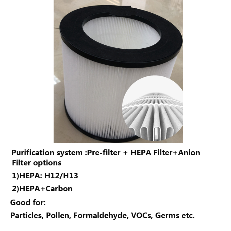 Portable UV Hepa filter From China ionizer  99% purifier home HEPA air purifier