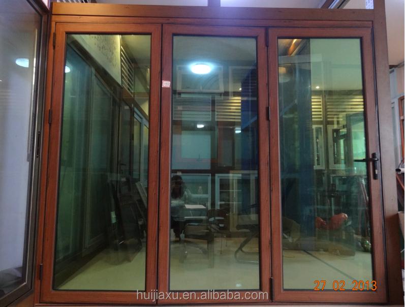 Marco de aluminio de cristal reflectante interior puertas for Puertas de metal con vidrio