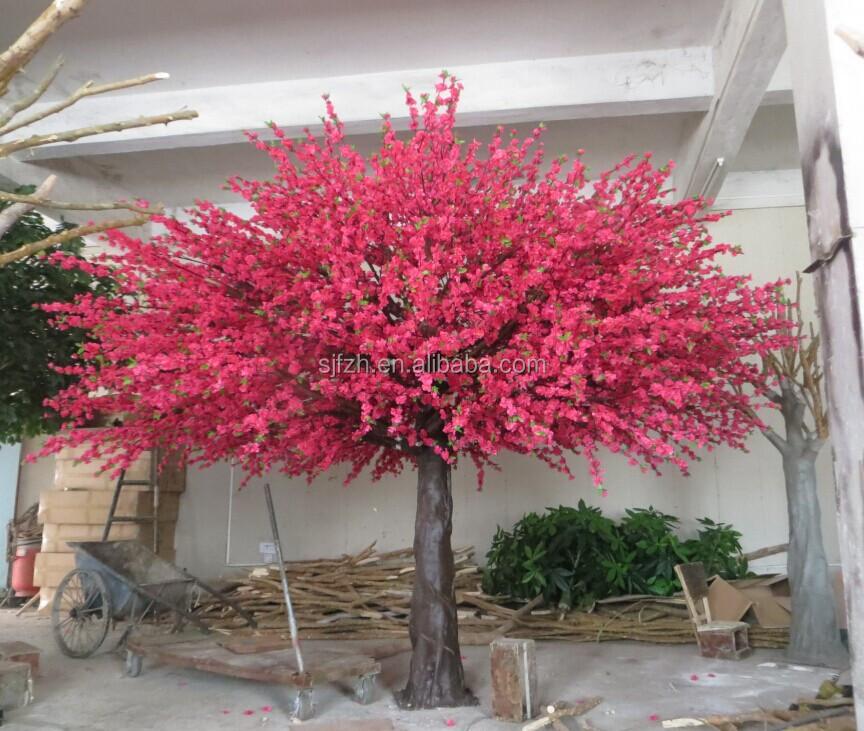 3 m hauteur 4 m largeur artificielle fleur de p cher arbre avec r el arbre de tronc arbres. Black Bedroom Furniture Sets. Home Design Ideas