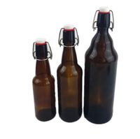 amber color swing top glass beer bottle 330ml 500ml 750ml